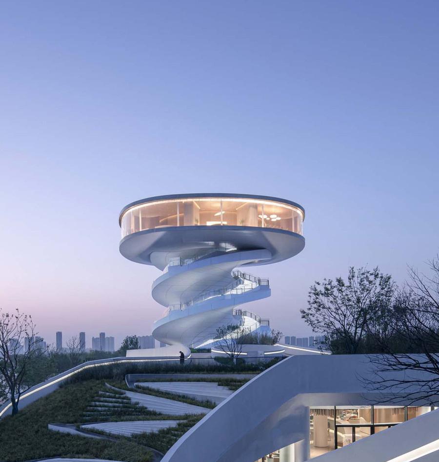 برج رصد مارپیچ جدید در چین
