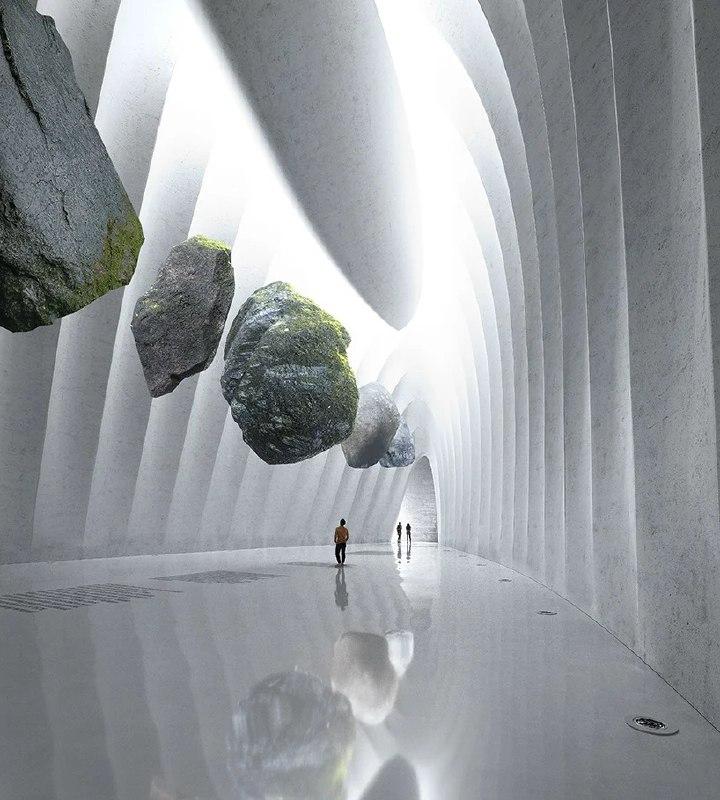 تلاقی گذشته و آینده در طراحی سورئال گالری و مجموعه فرهنگی در پارک