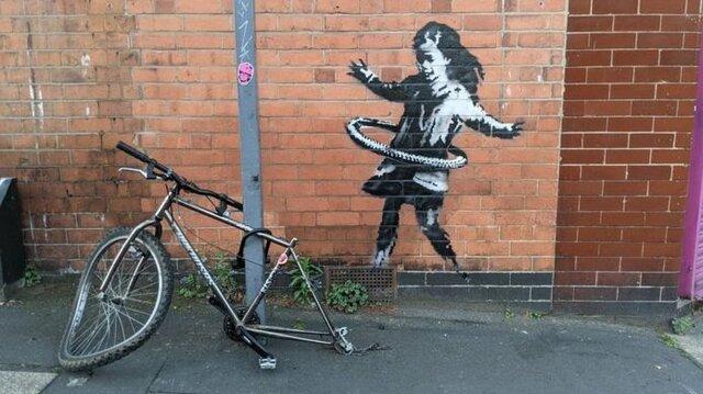 اثر جدید «بنکسی» بر روی دیواری در انگلستان