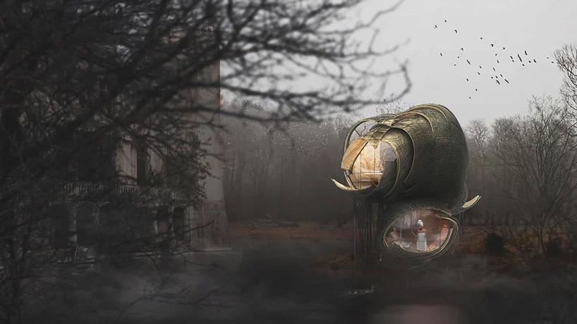 ماژول های خانه درختی متاثر از لانه های زنبور در فرانسه