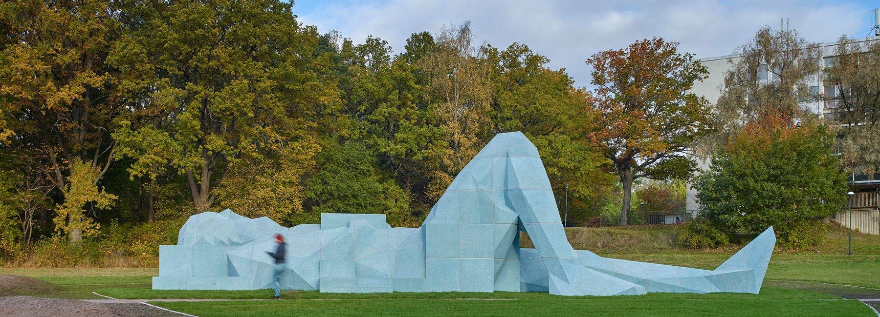 آبی های عظیمالجثه به مثابه مجسمه شهری در استکهلم
